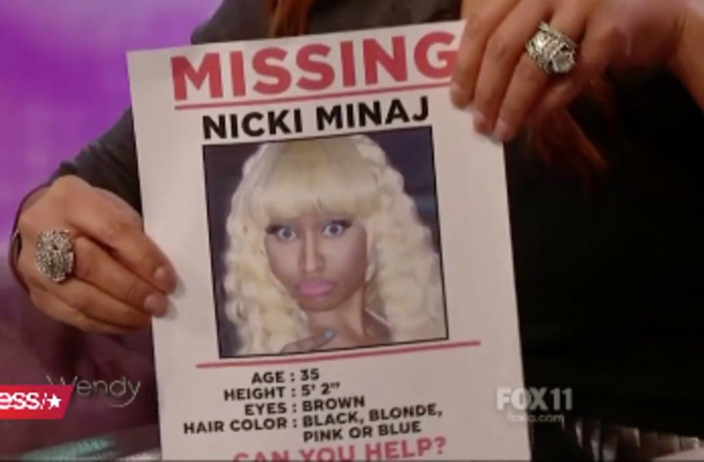 Wendy Williams Prints Missing Persons Posters To Help Find U0027missingu0027 Nicki  Minaj  Missing Persons Posters