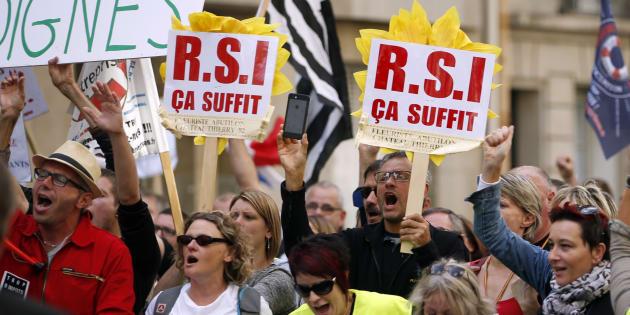 Une manifestation contre le RSI, en septembre 2015.