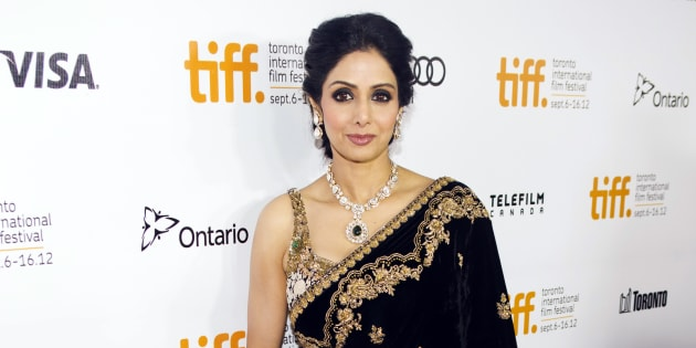"Sridevi Kapoor arrives for the gala presentation of ""English Vinglish"" at the 37th Toronto International Film Festival, September 14, 2012.  REUTERS/Mark Blinch (CANADA - Tags: ENTERTAINMENT)"