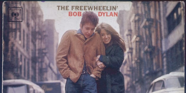 """The Freewheelin' Bob Dylan,"" released by Columbia Records in 1963."