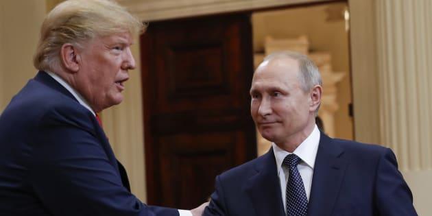 Les présidents américain et russe, Donald Trump et Vladimir Poutine.