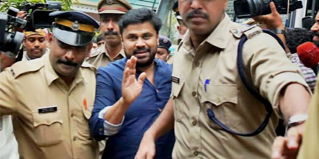 Malayalam actor Dileep, who was arrested in connection with the abduction and assault case of a South Indian actress, being produced before the Magistrate court which sent him to 14 days judicial custody.