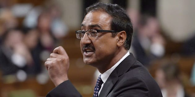 Infrastructure Minister Amarjeet Sohi responds to a question in the House of Commons on  June 15, 2017.