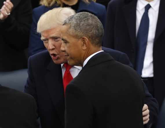 Obama aides slam Trump for claim about ex-presidents