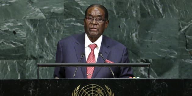 Zimbabwean President Robert Mugabe addresses the 72nd United Nations General Assembly at U.N. headquarters in New York on Sept. 21, 2017.