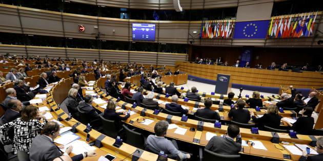 Vue du Parlement européen à Bruxelles le 2 mars 2017.