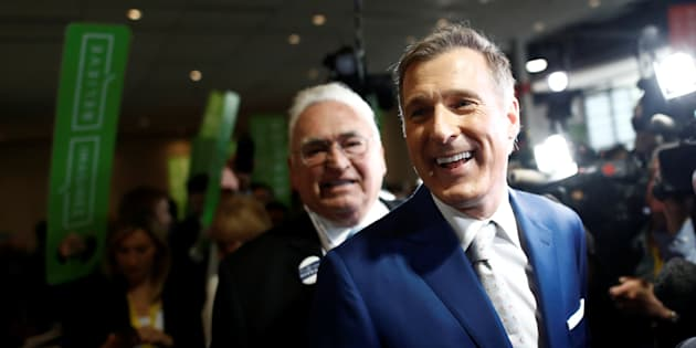 Maxime Bernier arrives at the Conservative Party of Canada leadership convention in Toronto on May 27, 2017.