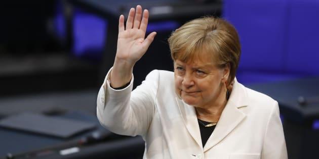 Angela Merkel élue chancelière par les députés pour un quatrième mandat