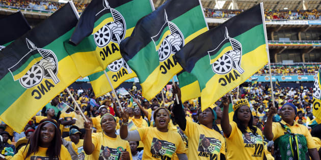 Supporters of South Africa's President Jacob Zuma's ruling African National Congress [ANC] cheer during their party's final election rally in Soweto, May 4, 2014.