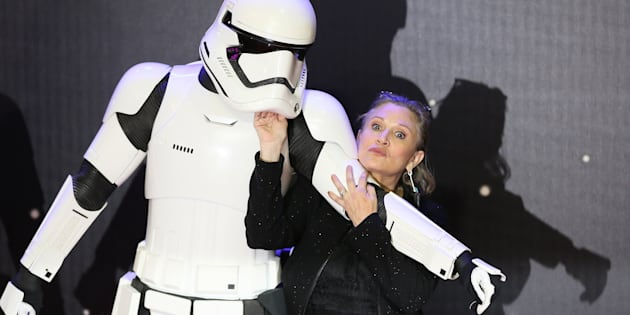 Carrie Fisher à Londres le 16 décembre 2015.
