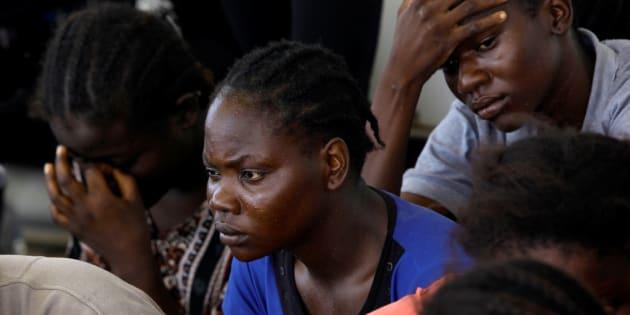 Un grupo de migrantes, tras ser interceptados por la guardia costera de Libia, el pasado 28 de agosto.