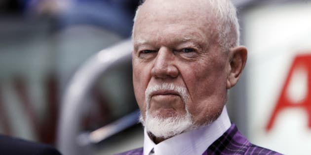 Hockey commentator and former coach Don Cherry looks on during the 2011 CHL/NHL top prospects skills competition in Toronto, January 18, 2011.