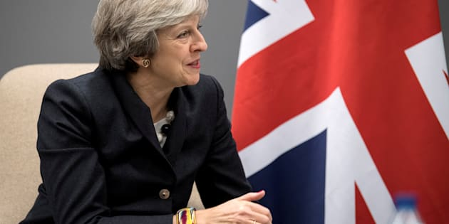 Britain's Prime Minister Theresa May in Gothenburg, Sweden November 16, 2017.
