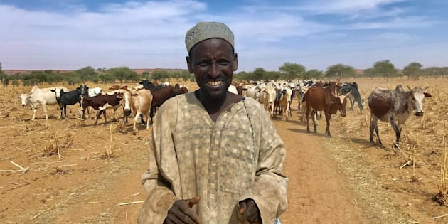 A Fulani cattle herder walks with his cows outside the city of Tillaberi, southwest Niger, about 100km south of the Mali border, Niger November 1, 2017.