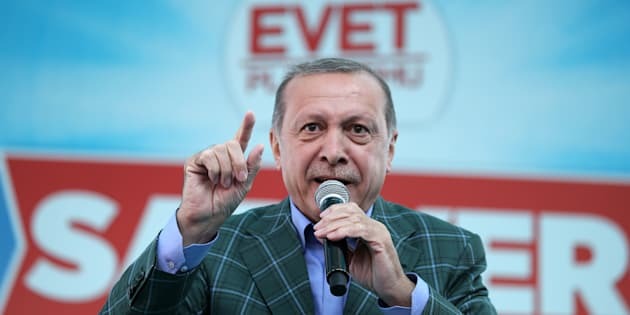 Recep Tayyip Erdogan à Istanbul le 15 avril 2017.
