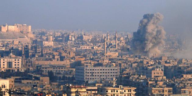 Vue aérienne d'Alep, en Syrie, le 12 décembre. REUTERS/Abdalrhman Ismail