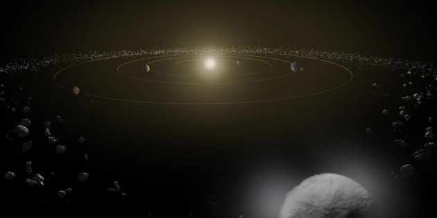 NASA NASA  Reuters                       Dwarf planet Ceres is seen in the main asteroid belt between the orbits of Mars and Jupiter in this concept image
