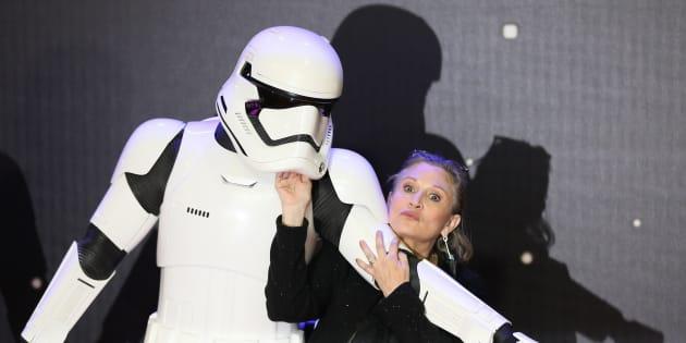 Carrie Fisher à Londres en décembre 2015.