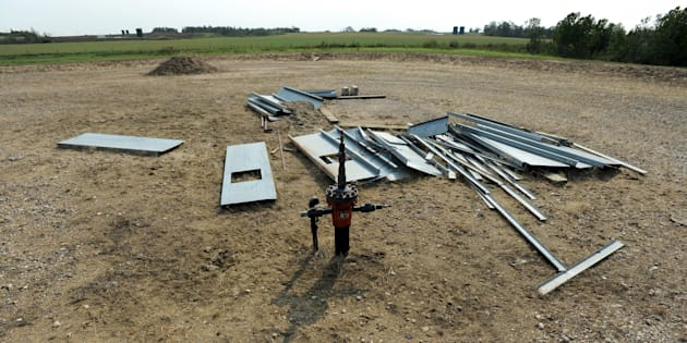 An abandoned well site near Lloydminster, Sask., Aug. 27, 2015. The Supreme Court says a bankrupt Alberta energy company cannot simply walk away from unprofitable wells on agricultural land without having to clean up.