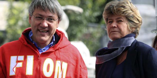 Maurizio Landini, segretario della Fiom, e Susanna Camusso, segretario generale della Cgil