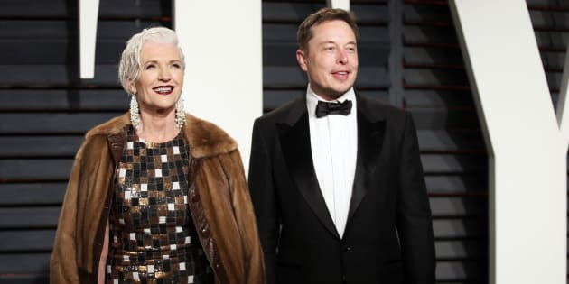Model, dietician and hands-off mom Maye Musk, with the most famous of her successful offspring, Elon.