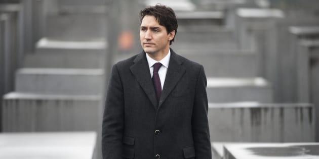 Le premier ministre Justin Trudeau a visité le mémorial de l'Holocauste à Berlin, en 2017.