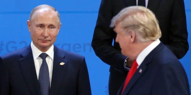 Donald Trump et Vladimir Poutine lor du dernier G20 à Buenos Aires.