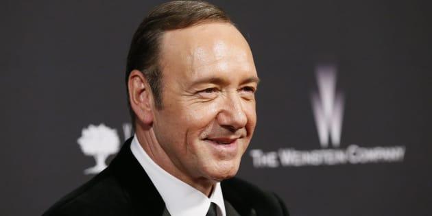 Kevin Spacey après les Golden Globe à la The Weinstein Company & Netflix after party à Beverly Hills, Californie, en 2014.