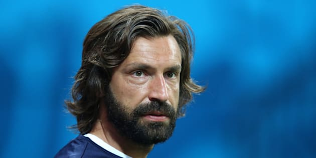 Andrea Pirlo during a training session at the Arena da Amazonia, Manaus.
