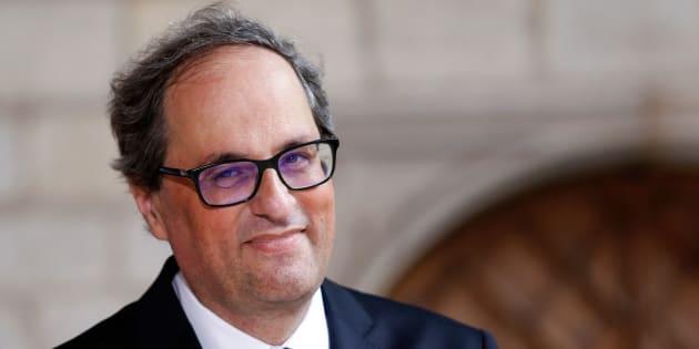 El president catalán, Quim Torra, tras la topa de posesión de su nuevo gabinete, a principios de mes.