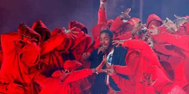 Kendrick Lamar lors des Grammy Awards à New York le 28 janvier 2018.