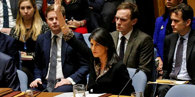 L'ambassadrice américaine aux Nations unies, Nikki Haley
