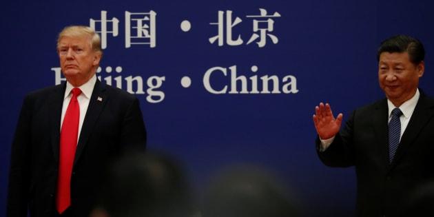 Xi Jinping et Donald Trump en Chine, en novembre 2017.