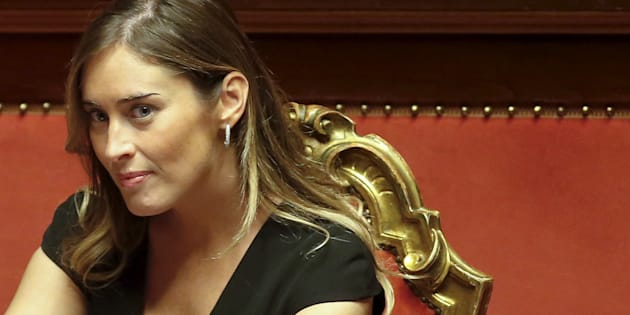 Italy's Minister for Constitutional Reforms and Parliamentary Relations Maria Elena Boschi looks on during a debate at the Italian Senate in Rome October 13, 2015. The Italian Senate voted on Tuesday to curtail its powers in a victory for Prime Minister Matteo Renzi, who has overcome determined opposition to push through the reform that he says will make the country more governable. REUTERS/Remo Casilli