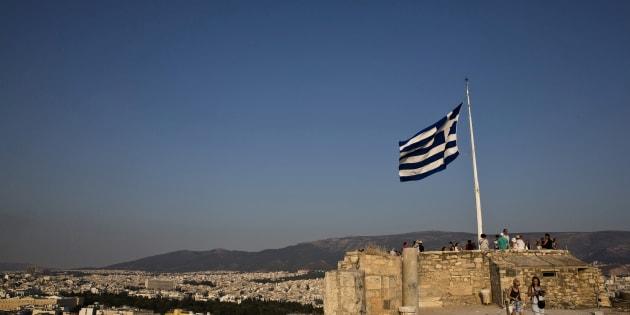 Drapeau de la Grèce (illustration)