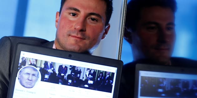Bahtiyar Duysak, former temporary worker at Twitter, poses during an interview at the Reuters office in Frankfurt, Germany, Dec. 8, 2017.
