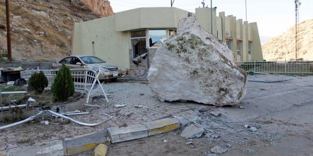 Des maisons ont été complètement détruite dans la région du Kurdistan après le tremblement de terre du 12 novembre 2017, en Irak.