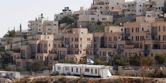 Edificios ya levantados en el asentamiento de Nof Zion, en el este de Jerusalén, zona ocupada a Palestina por Israel según las Naciones Unidas.