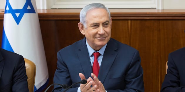 El primer ministro de Israel, Benjamin Netanyahu, durante la reunión semanal de su gabinete, el pasado 1 de octubre.