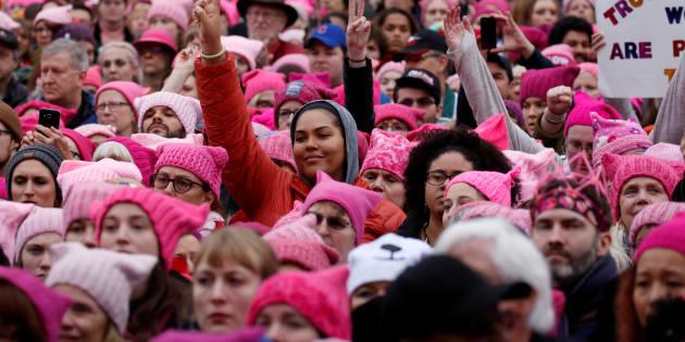 Le jour où j'ai marché pour le droit des femmes à Washington. REUTERS/Shannon Stapleton