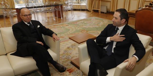 Bernard Cazeneuve a reçu Benoît Hamon à Matignon.