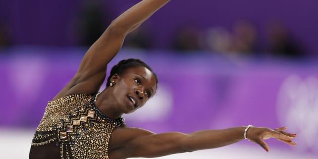 フランスの女子フィギュアスケート、マエ=ベレニス・メイテ選手(撮影=2018年2月21日)