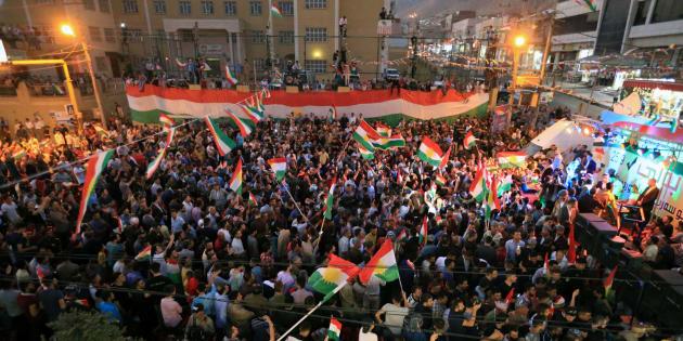 """En Irak, le """"oui"""" pour l'indépendance du Kurdistan l'emporte à 92%."""