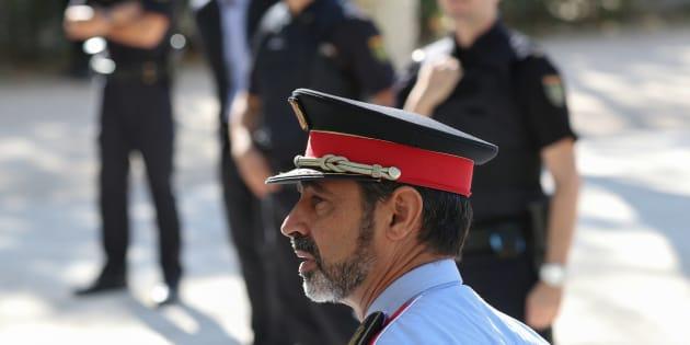 Josep Lluis Trapero, el mayor de los Mossos, el pasado 6 de octubre, camino de la Audiencia Nacional, en Madrid.