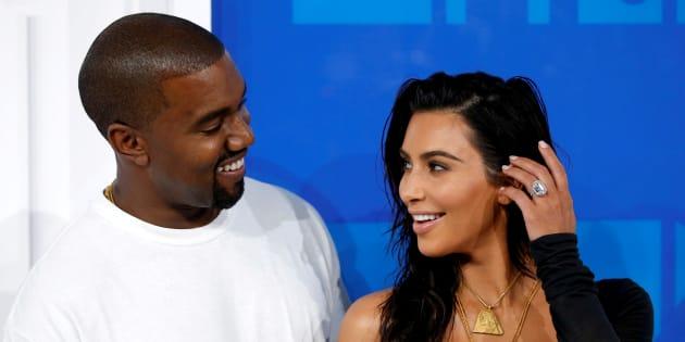 Kanye West et Kim Kardashian à New York le 28 août 2016.