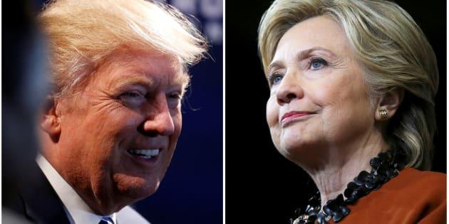 Montage photo présentant Donald Trump et Hillary Clinton. REUTERS/Carlo Allegri (L)/Carlos Barria (R)/File Photos