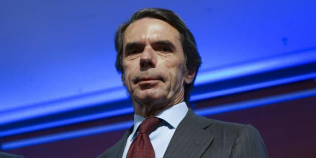 El expresidente del Gobierno José María Aznar, el pasado 5 de junio en la presentación del libro 'No hay ala oeste en la Moncloa', en Madrid.