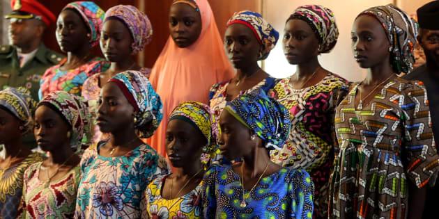 Parte de las niñas de Chibok secuestradas por Boko Haram, en una foto de 2016.