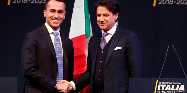 Di Maio y Conte, en una imagen de archivo.