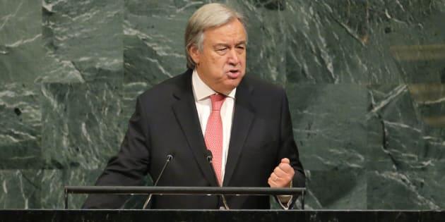 Antonio Guterres, el secretario general de la ONU, durante su discurso en la Asamblea General del pasado martes, en Nueva York.